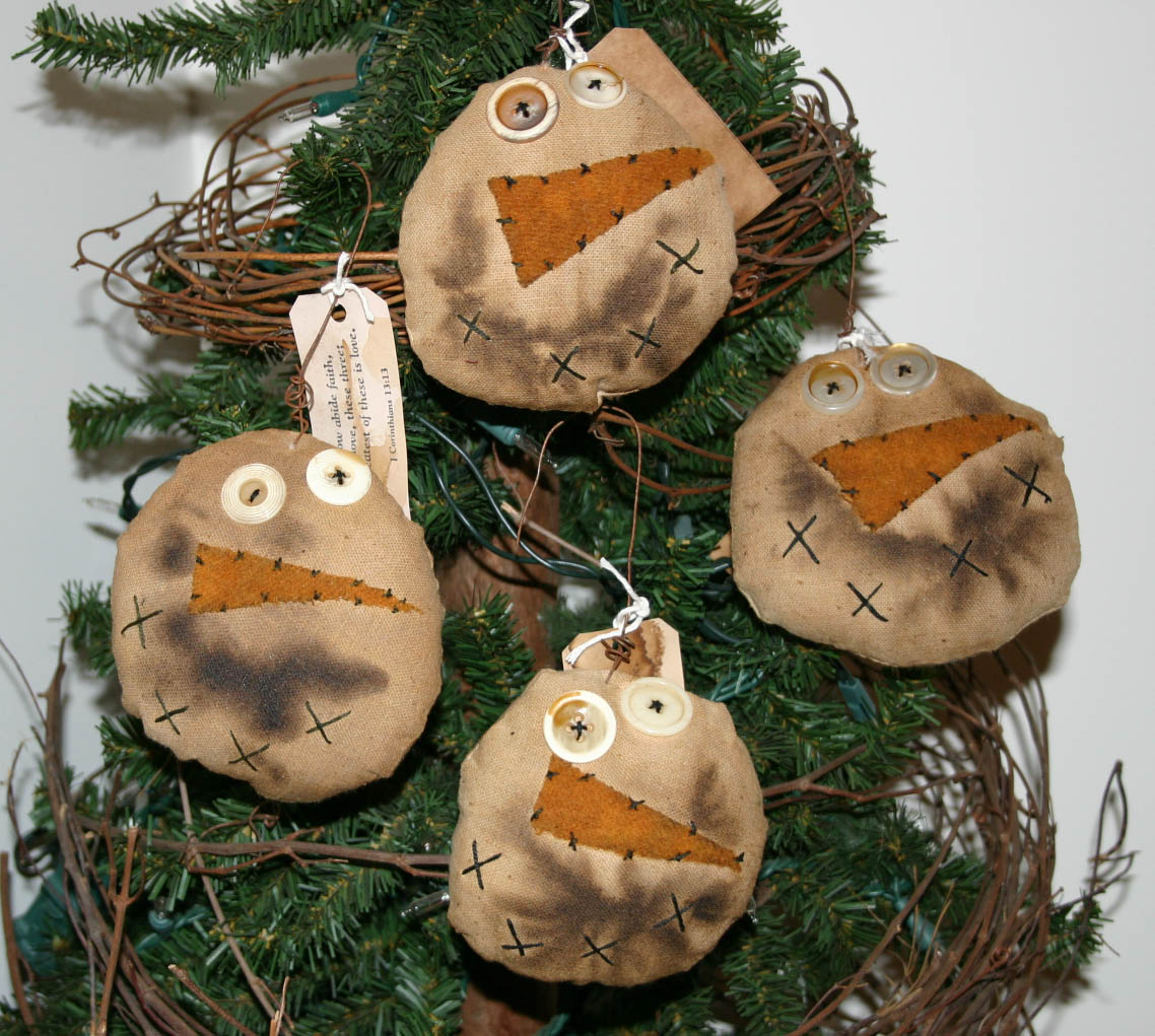 Snowman Face Ornaments